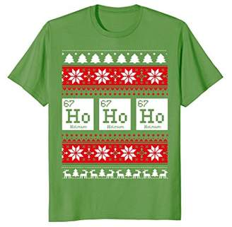 Ho Ho Ho Chemistry Element Ugly Christmas T-Shirt
