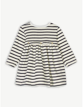 Petit Bateau Stripe print cotton-blend dress 1-12 months