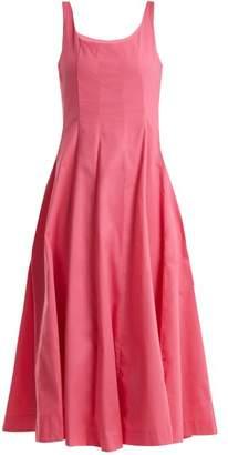Staud - Wells Cotton Blend Dress - Womens - Pink