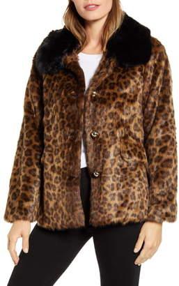 Kate Spade Leopard Faux Fur Jacket
