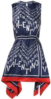 Valentino logo-print dress