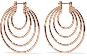 Luv Aj Rose Gold-Tone Hoop Earrings