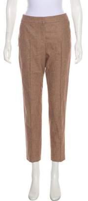 Akris Mid-Rise Straight-Leg Pants brown Mid-Rise Straight-Leg Pants
