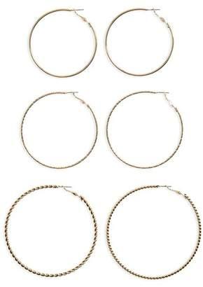 BP 3-Pack Large Hoop Earrings