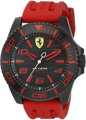 Ferrari Men's 'XX Kers' Quartz Stainless Steel and Silicone Casual Watch, Color: (Model: 0830308)