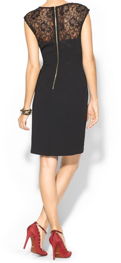 Calvin Klein Cap Sleeve Lace Dress
