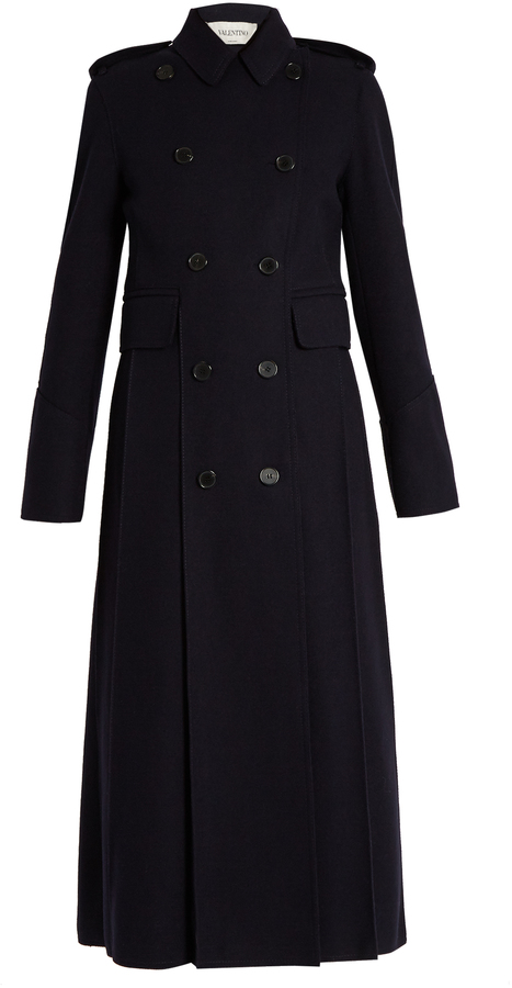 Valentino VALENTINO Martingale-back double-breasted coat