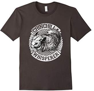 Cute Chinchilla Whisperer Tee Shirt Animal Silhouette