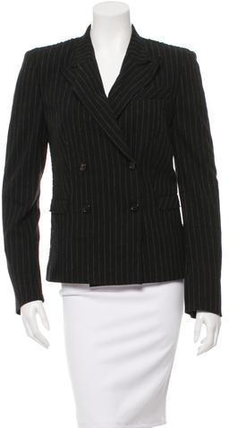 Alexander McQueenAlexander McQueen Wool Pinstriped Blazer