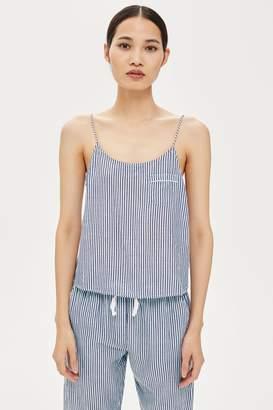 Topshop Monochrome Striped Cami Top