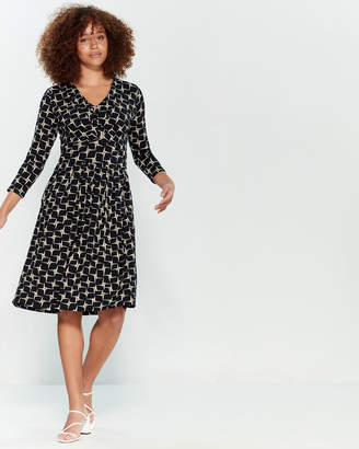 Emily And Fin Freya Jersey Fit & Flare Dress