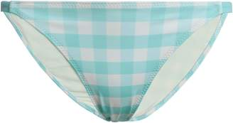 Solid & Striped The Kate Gingham Low-rise Bikini Briefs