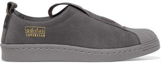 adidas Super Star Bw35 Suede Slip-on Sneakers - Dark gray
