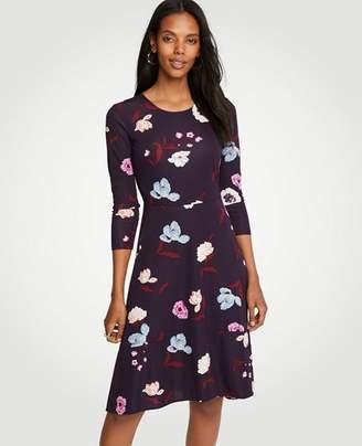 Ann Taylor Botanical Tulip Circle Cut Flare Dress