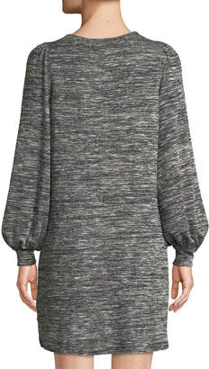 Max Studio Full-Sleeve Space-Dye Knit Dress