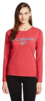 Billabong (ビラボン) - (ビラボン) BILLABONG レディース 長袖 BASIC ロゴプリント Tシャツ AG014-050 AG014-050 RED RED L
