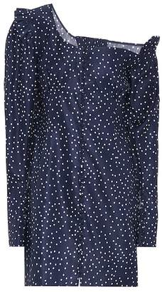 Magda Butrym Split linen and silk minidress