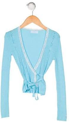 Blumarine Girls' Wrap Cardigan