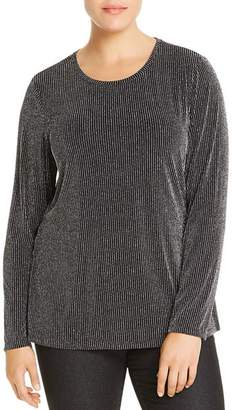 MICHAEL Michael Kors Metallic Pinstripe Top