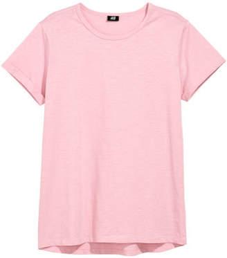 H&M Slub Jersey T-shirt - Pink