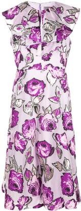 Lela Rose floral print dress