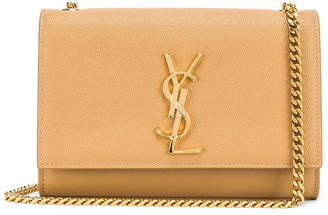 Saint Laurent Small Kate Monogramme Chain Bag in Toffee | FWRD
