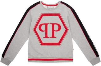 Philipp Plein Contrast Panel Logo Sweatshirt