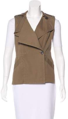 Diane von Furstenberg Spy Ruffle Short Vest