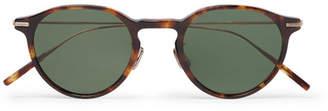 Eyevan 7285 Round-Frame Tortoiseshell Acetate And Gold-Tone Sunglasses