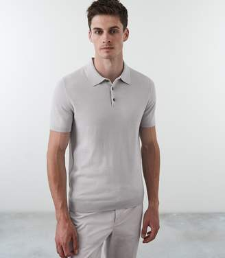 Reiss Our last order date for Christmas has now passed VARSITY SHORT SLEEVED POLO Ice Grey