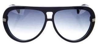 Alexander McQueen Oversize Aviator Sunglasses