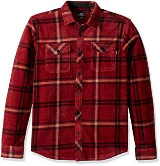 O'Neill Men's Glacier Stretch Button Up Polar Fleece Shirt
