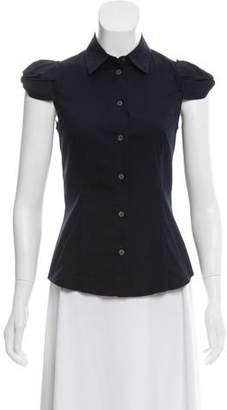 Prada Short Sleeve Button-Up Top