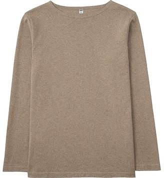 Men Washed Boat Neck Long Sleeve T-Shirt $19.90 thestylecure.com