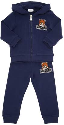 Moschino Patch Cotton Sweatshirt & Sweatpants