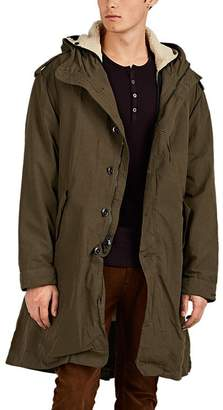 John Varvatos Men's Sherpa-Lined Cotton-Blend Faille Parka