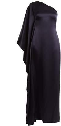 Osman Oleander one-shoulder satin gown