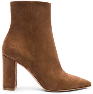 Gianvito Rossi Suede Piper Ankle Boots in Texas | FWRD