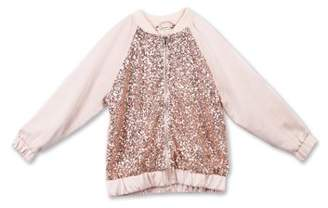 Lots of Love by Speechless 7-16 Sequin Bomber Jacket (Big Girls)