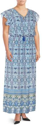 Adrianna Papell Women's Paisley Maxi Dress