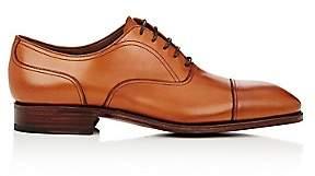 Carmina Shoemaker Men's Leather Cap-Toe Balmorals-Beige, Tan