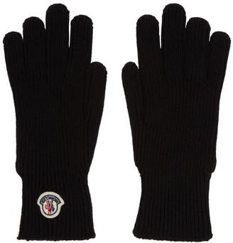 Moncler Black Wool Gloves