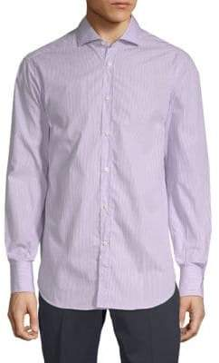 Brunello Cucinelli Pinstripe Cotton Button-Down Shirt