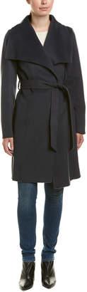 Tahari Ellie Wool-Blend Wrap Coat