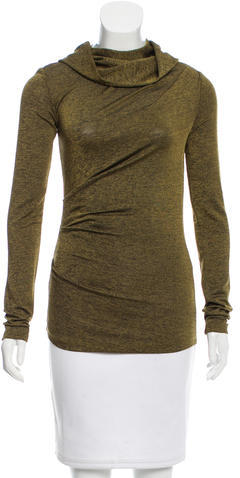 Alexander Wang T by Alexander Wang Asymmetrical Turtleneck Top