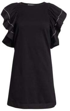 See by Chloe Ruffle T-Shirt Dress