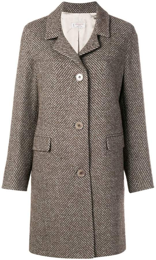 herringbone pattern coat