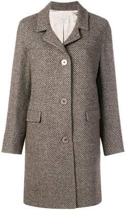Alberto Biani herringbone pattern coat