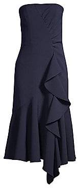 Shoshanna Women's Levanzo Strapless Cascading Ruffle Dress - Size 0