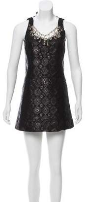 Prada Embellished Jacquard Dress w/ Tags